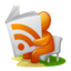 64x64px size png icon of Newspaper RSS Feed