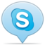64x64px size png icon of social balloon skype