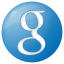 64x64px size png icon of social google button blue