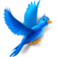 64x64px size png icon of Flying bird