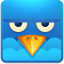 64x64px size png icon of Twitter square angry