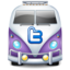 64x64px size png icon of twitter bus purple