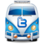 64x64px size png icon of twitter bus