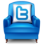 64x64px size png icon of twitter chair