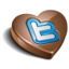 64x64px size png icon of twitter chocolate dark