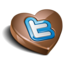 64x64px size png icon of twitter chocolate