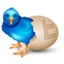 64x64px size png icon of twitter egg