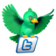 64x64px size png icon of twitter flying green
