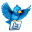 64x64px size png icon of twitter flying