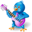 64x64px size png icon of twitter guitar