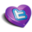 64x64px size png icon of twitter heart purple