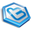 64x64px size png icon of twitter hexa blue