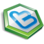 64x64px size png icon of twitter hexa green