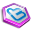 64x64px size png icon of twitter hexa purple
