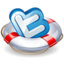 64x64px size png icon of twitter lifesaver