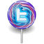 64x64px size png icon of twitter lolly purple