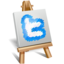 64x64px size png icon of twitter painting