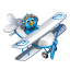64x64px size png icon of twitter plane