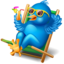 64x64px size png icon of twitter relax