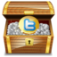 64x64px size png icon of twitter treasure