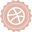 64x64px size png icon of dribbble
