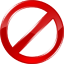 64x64px size png icon of forbidden