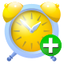 64x64px size png icon of alarm add
