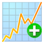 64x64px size png icon of graph add