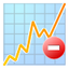 64x64px size png icon of graph remove