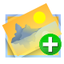 64x64px size png icon of image add