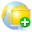 64x64px size png icon of network add