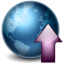 64x64px size png icon of Earth Upload