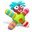 64x64px size png icon of Colored Green Doll