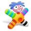 64x64px size png icon of Colored Orange Doll