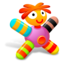 64x64px size png icon of Colored Pink Doll
