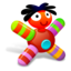 64x64px size png icon of Colored Red Doll