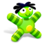 64x64px size png icon of Green Doll