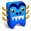 64x64px size png icon of Blue creature