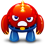64x64px size png icon of red monster angry