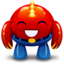 64x64px size png icon of red monster happy
