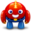 64x64px size png icon of red monster