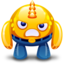 64x64px size png icon of yellow monster angry
