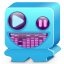 64x64px size png icon of monster blue