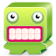 64x64px size png icon of monster green