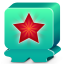 64x64px size png icon of monster turquoise