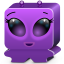 64x64px size png icon of monster violet