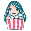 64x64px size png icon of Girl in a Box