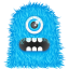 64x64px size png icon of Blue Monster