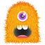 64x64px size png icon of Orange Monster