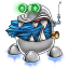 64x64px size png icon of robot trash full